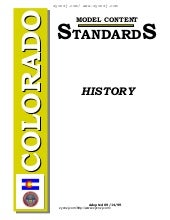 History   colorado model content st...