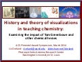 History and theory of visualizations in teaching chemistry