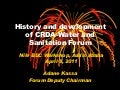 History and development of CRDA-Water and Sanitation Forum