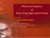 Historical aspects of drug approval...