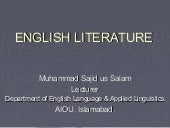 History of english literature sajid
