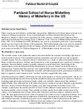 History of midwifery in the us