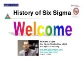 History Of Six Sigma By Praveen Gupta