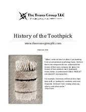 History of the toothpick