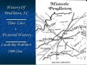 Historic Timeline of Pendleton, SC