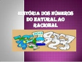 História dos números do natural a...