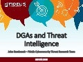 HITCON 2015 - DGAs, DNS and Threat Intelligence