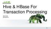 Hive & HBase for Transaction Processing Hadoop Summit EU Apr 2015