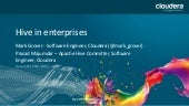 Hadoop and Hive in Enterprises