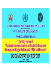 DOCUMENTATION OF THE NATIONAL CONSU...