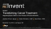 (HLS305) Transforming Cancer Treatment: Integrating Data to Deliver on the Promise of Precision Medicine | AWS re:Invent 2014