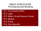 HMCS VANCOUVER Briefing June 2011