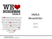 HMEA Newsletter April 2010