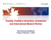 Canada Life Sciences Breakfast Tamp...
