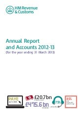 UK : HMRC 2013 Revenue and Accounts