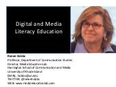 The Future of Digital and Media Literacy Education