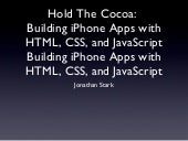Hold the Cocoa - Building iPhone Ap...