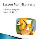 Ekphrasis Lesson Plan
