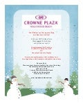 Crowne Plaza Hollywood Beach Holiday Flyer