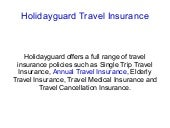 Trip Insurance for Annual, Single, ...