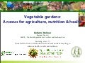 ARDD at Rio+20: Vegetable gardens a nexus for agriculture, nutrition and health