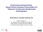 Holmes e twinning learning events