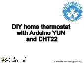 DIY home thermostat with Arduino YUN