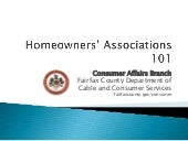 Homeowners' Associations 101