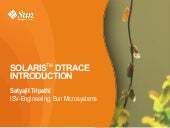 Solaris DTrace, An Introduction