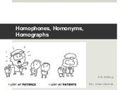 Homophones homographs & homonyms list with examples PDF