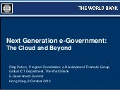 Next generation e-government: G-Clo...