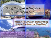 Hong Kong As A Regional Distributio...