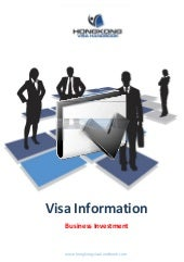 Hong Kong Investment Visa Factsheet