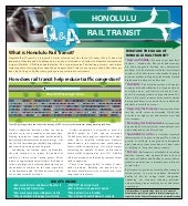Honolulu Rail Transit Brochure