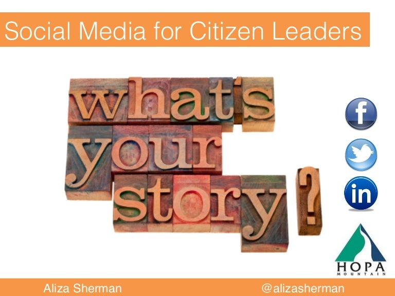 Storytelling for citizen leaders and nonprofit organizations
