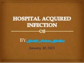 Hospital acquired     infection