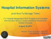 Hospital Information Systems (August 18, 2015)