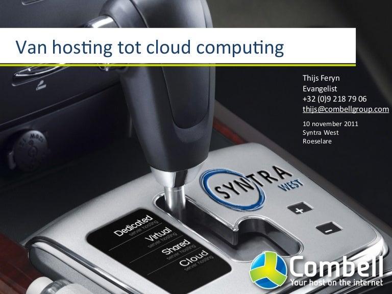 Van hosting tot cloud computing