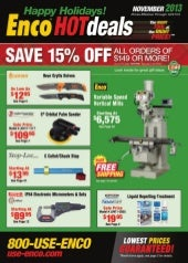 Enco HOTdeals November 2013 Catalog