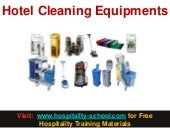 Hotel Cleaning Equipments (hospitality-school.com)