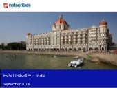 Market Research Report : Hotel industry in india 2014 - sample