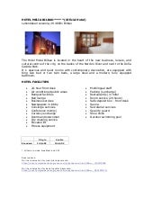 Hotels in Bilbao - HTAi 2012