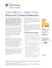 Puerto Rico: Value Added Tax - Impact on the Hotel and Tourism Industries
