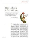 Hot To Pitch Brilliant Idea