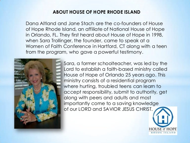 House of Hope Rhode Island: Teen Statistics