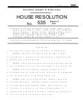 PA House resolution 535
