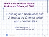 Housing and Homelessness: A Look at...