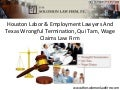 Houston Labor & Employment Lawyers And Texas Wrongful Termination, Qui Tam, Wage Claims Law Firm