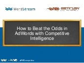 How to Beat the Odds in AdWords with Competitive Intelligence