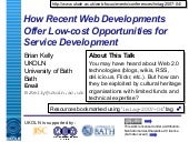 How Recent Web Developments Offer L...